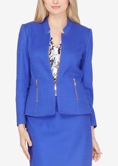 Tahari Asl Textured Zippered Blazer