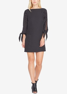 Tahari Asl Tie-Sleeve Dress