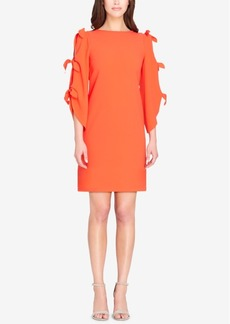 Tahari Asl Tie-Sleeve Shift Dress