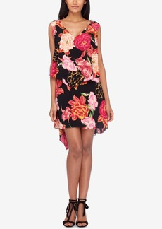 Tahari Asl Tiered Floral-Print Shift Dress