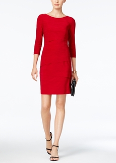 Tahari Asl Tiered Sheath Dress