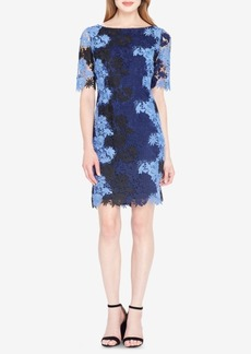 Tahari Asl Tri-Color Lace Sheath Dress
