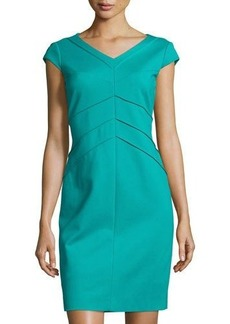 Tahari Trina Cap-Sleeve Shift Dress