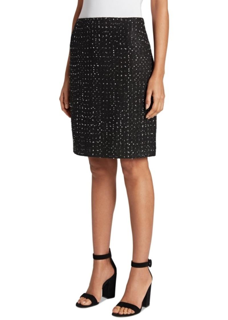 Tahari Asl Tweed Dot-Print Skirt