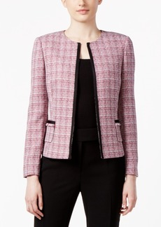 Tahari Asl Tweed Soutache-Trim Jacket