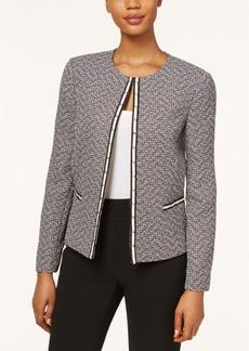Tahari Asl Tweed Studded Jacket