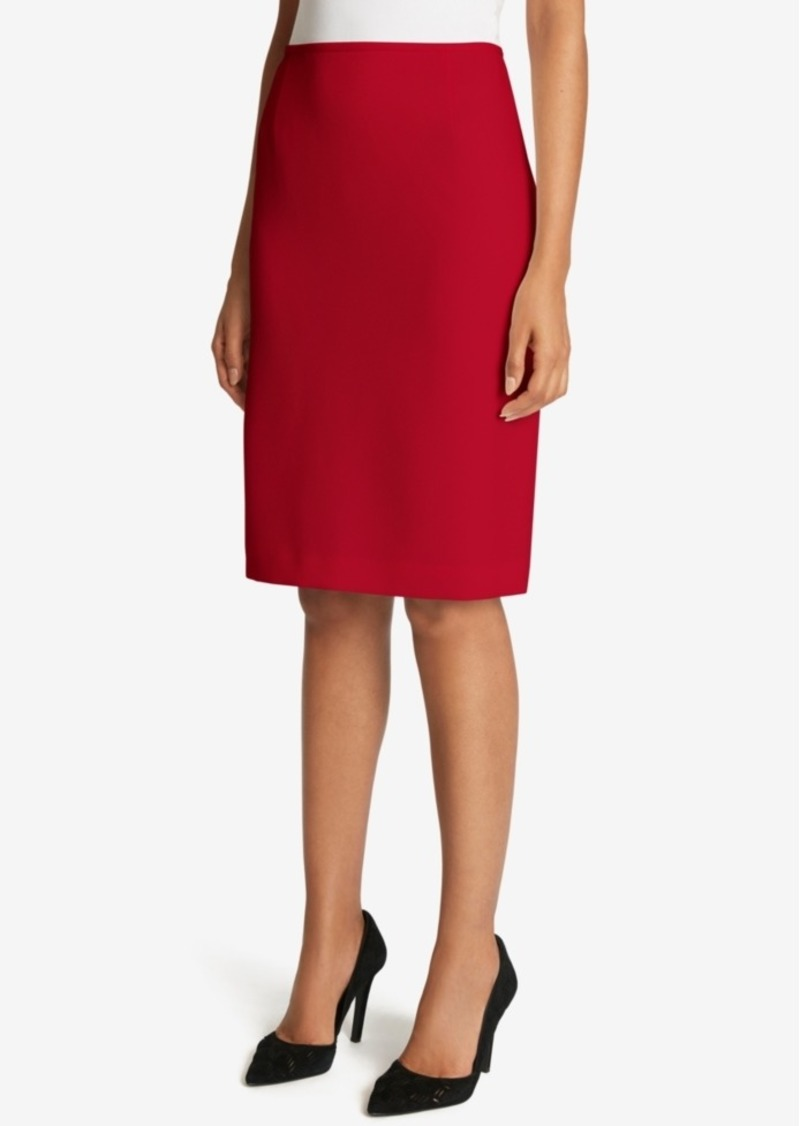 Tahari Asl Twill Pencil Skirt