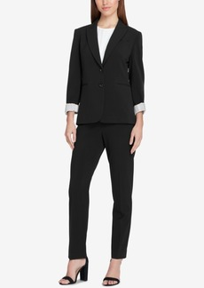 Tahari Asl Two-Button Peak-Collar Blazer