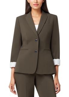 Tahari Asl Two-Button Roll-Cuff Jacket