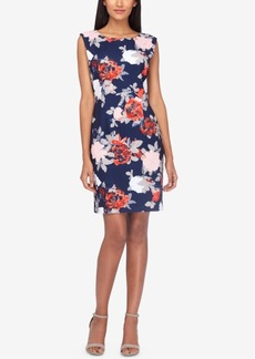 Tahari Asl V-Back Printed Sheath Dress