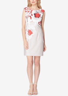 Tahari Asl V-Back Sheath Dress