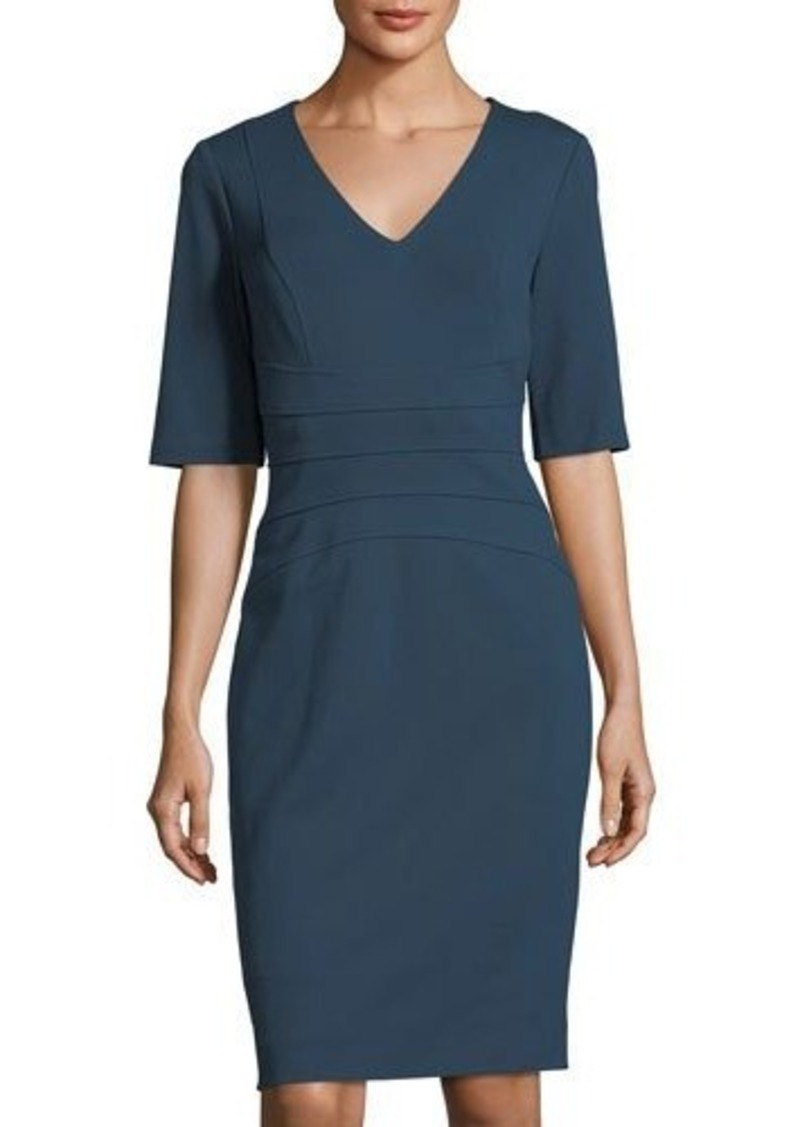 9e4b007c4ac6 Tahari Tahari ASL V-Neck Ponté Sheath Dress | Dresses