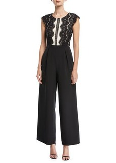 Tahari ASL Wide-Leg Lace Jumpsuit
