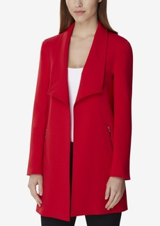 Tahari Asl Wing-Collar Topper Jacket