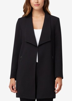 Tahari Asl Wing-Lapel Topper Jacket