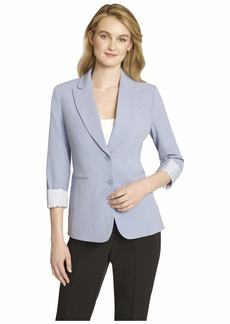 Tahari ASL Women's 2 Button Roll Sleeve Jacket
