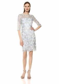 Tahari ASL Women's 3/4 Sleeve LACE Sheath Dress