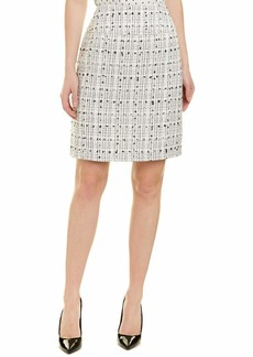 Tahari ASL Women's A-LINE Boucle Skirt Ivory Black