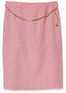 Tahari ASL Women's Chain Belt Pencil Skirt