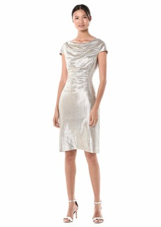Tahari ASL Women's Cowl Neck Dress with Ruched Side