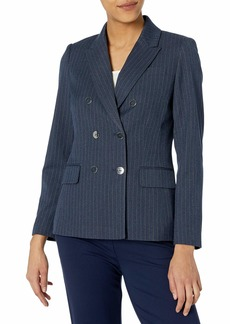 Tahari ASL Women's Double Breasted Blazer with Patch Pockets