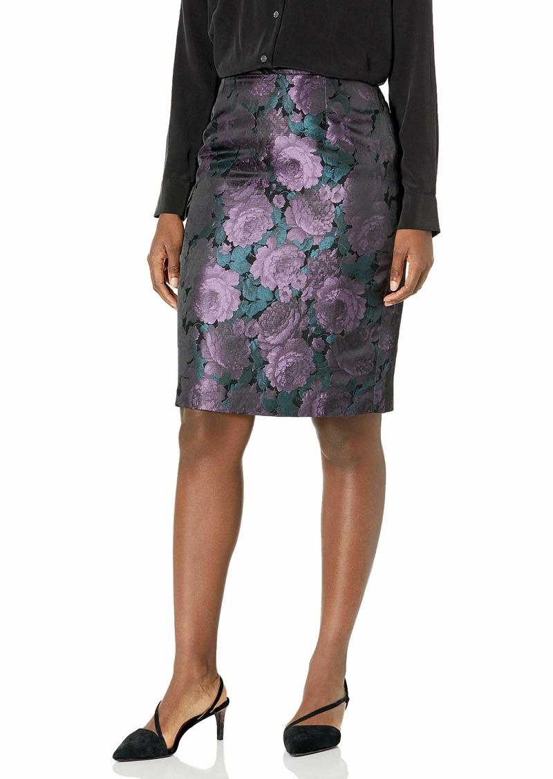 Tahari ASL Women's Floral Jacquard Pencil Skirt