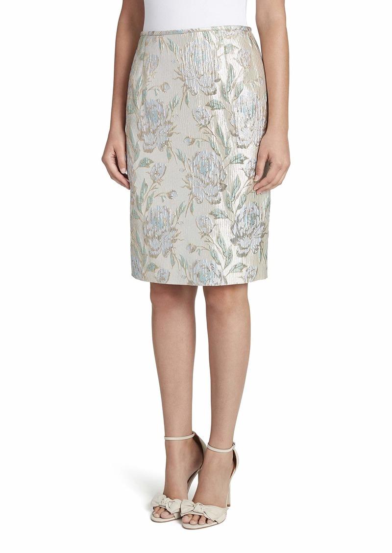 Tahari ASL Women's Floral Print Pencil Skirt