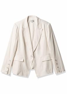 Tahari ASL Women's Front Button Sleeve Peak Lapel Jacket