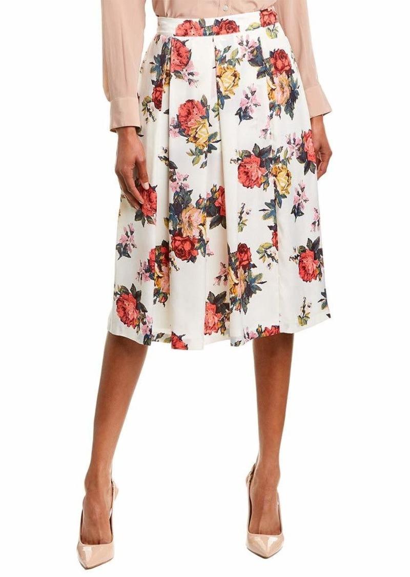 Tahari ASL Women's Inverted MIDI Pleat Skirt