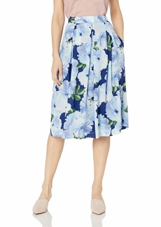 Tahari ASL Women's Inverted MIDI Pleat Skirt