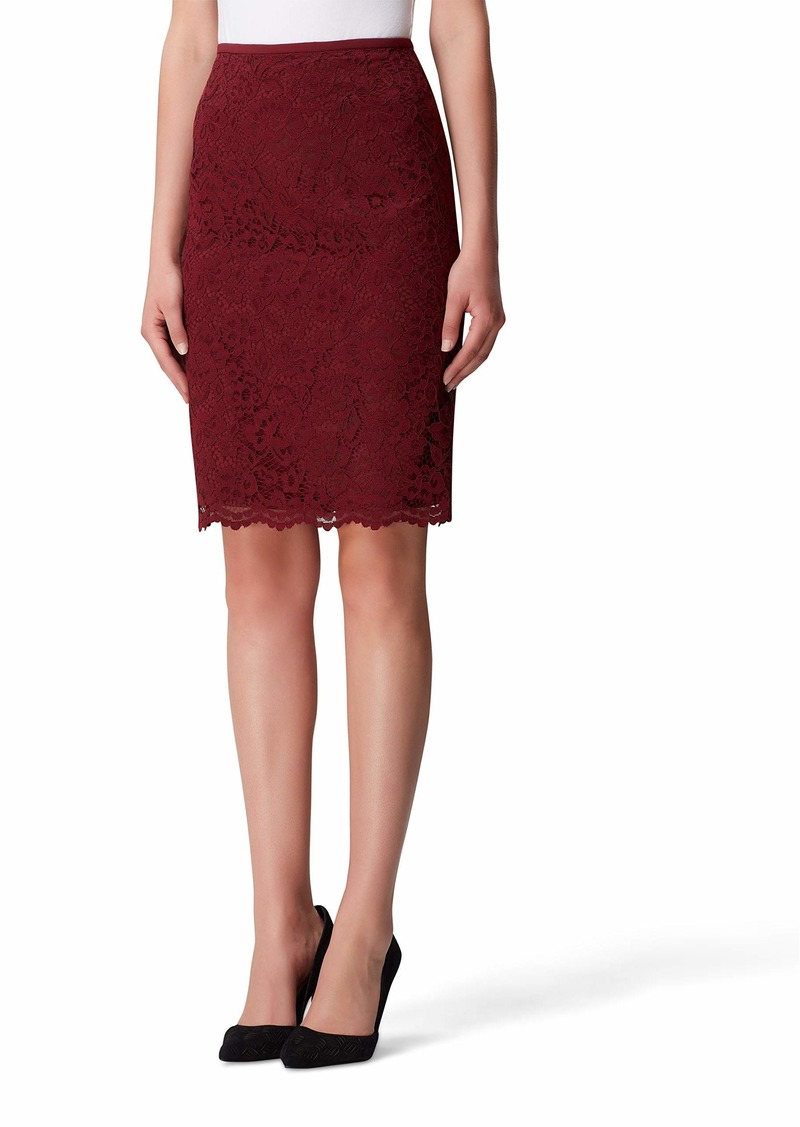Tahari ASL Women's Lace Pencil Skirt