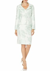 Tahari ASL Women's Plus Size Nested 4 Button Jackeet and Pencil Skirt  W