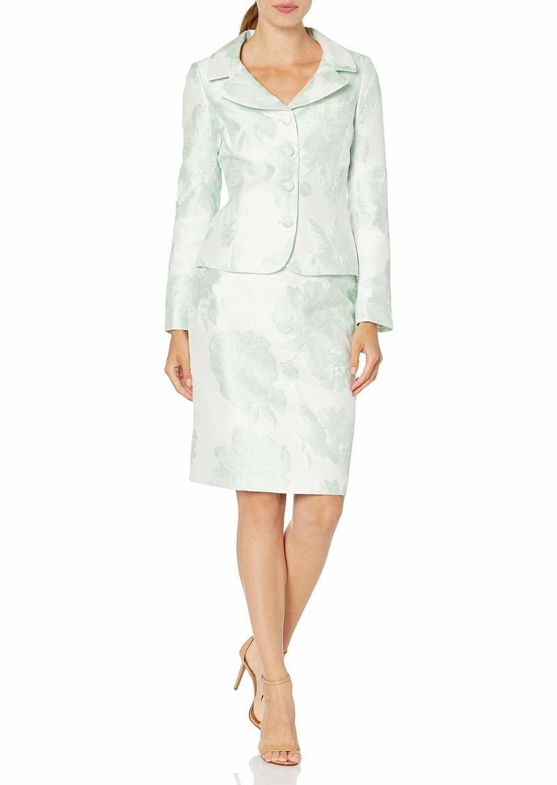 Tahari ASL Women's Nested 4 Button Jackeet and Pencil Skirt
