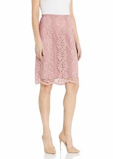 Tahari ASL Women's Pencil Skirt Pink Floral lace