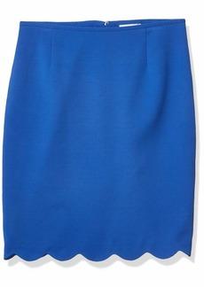 Tahari ASL Women's Pencil Skirt with Scallop Hem