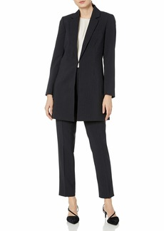 Tahari ASL Women's Pinstripe Topper Jacket Pant Suit