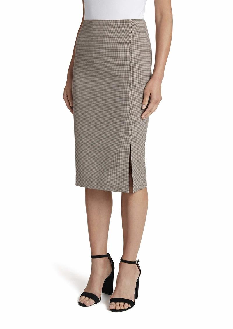 Tahari ASL Women's Plaid Pencil Skirt