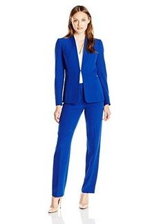 Tahari ASL Women's Plus-Size Crepe Pant Suit