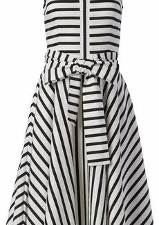 Tahari ASL Women's Sleeveless A-Line Mid-Length Tie Waist Dress