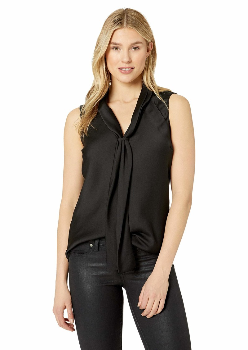 Tahari ASL Women's Sleeveless Double SASH TOP  L