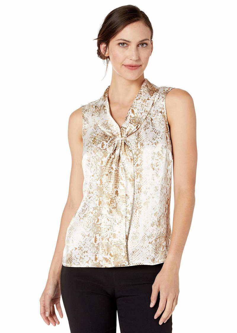 Tahari ASL Women's Sleeveless Double SASH TOP  XL