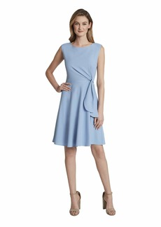 Tahari ASL Women's Sleeveless Side Tie Dress