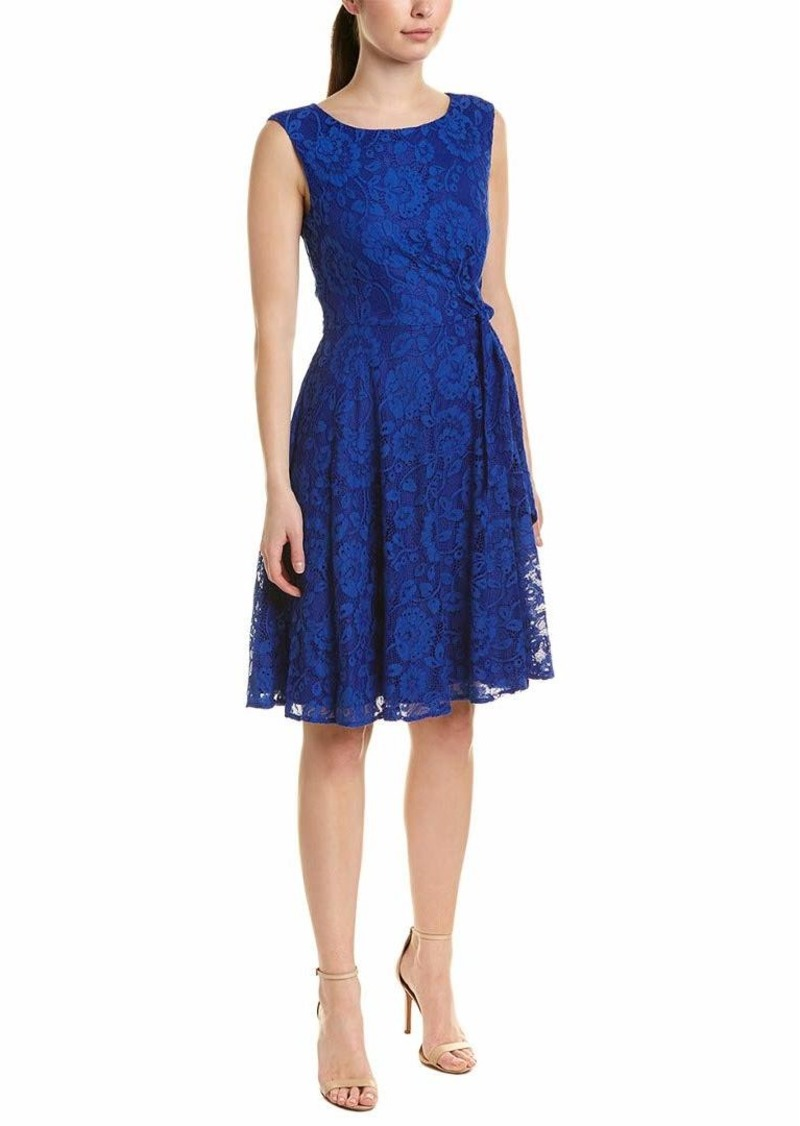 Tahari ASL Women's Sleeveless Side TIE LACE Dress