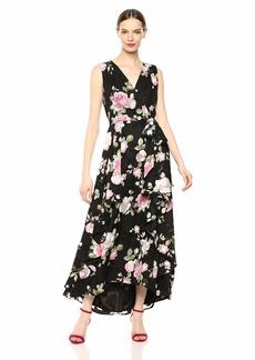 Tahari ASL Women's Sleeveless TIE Waist Gown RSE Gard Petal Pink