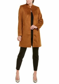 Tahari ASL Women's Stand-Collar Faux Suede Topper Jacket