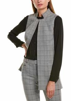 Tahari ASL Women's Stand Collar Vest Topper