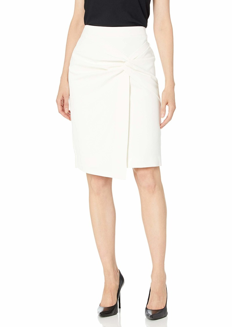 Tahari ASL Women's Twist Front WRAP Pencil Skirt