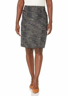 Tahari ASL Women's Two-Toned Tweed Pencil Skirt
