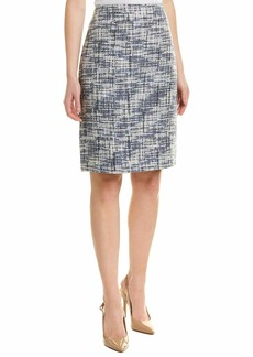 Tahari ASL Women's Wide WB Double Back Vent Skirt