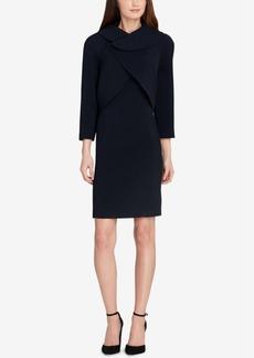 Tahari Asl Wrap Jacket Dress Suit, Regular & Petite
